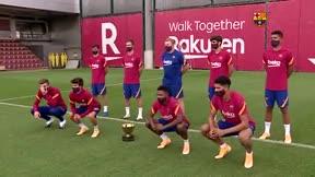 Así ha presentado el Barça a los debutantes en e Trofeo Joan Gamper