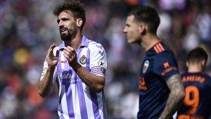 Borja Fernández durante el Valladolid-Valencia