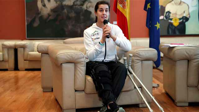Carolina Marín cuenta cómo vivió los minutos posteriores a la lesión de la rodilla