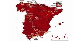 Cartel del recorrido de La Vuelta 2018