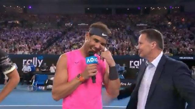 El gesto de cracks de Nadal y Federer en Melbourne