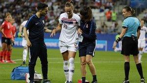 Hansen se retiró lesionada del Corea - Noruega