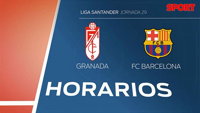 Horario y d nde ver el granada fc barcelona de la liga for Horario oficinas banco santander barcelona