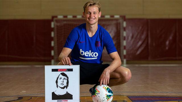 De Jong: Nadie ha tenido tanto impacto en el fútbol como Johan Cruyff
