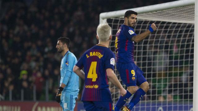 LALIGA | Betis - FC Barcelona (0-5): Suárez fusiló a Adán