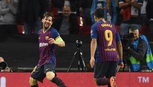 Lionel Messi fue la figura del Barcelona en el partido ante el Tottenham