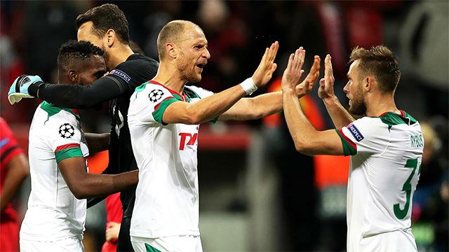El Lokomotiv sorprende y gana en casa del Bayer Leverkusen
