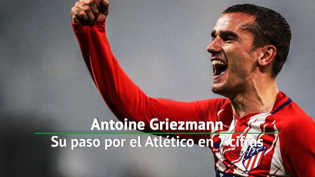 Los números de Griezmann con el Atlético