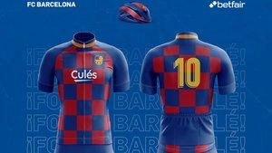 El maillot del Barça respeta los cuadros de esta temporada