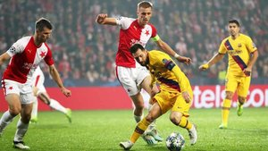 Messi lideró a un Barça irregular ante el Slavia Praga
