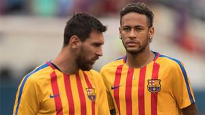 Messi quiere tener siempre en su equipo a los mejores y Neymar lo es