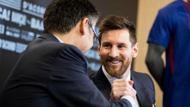 Messi terminará su carrera deportiva en el FC Barcelona