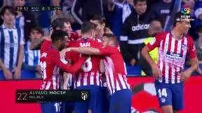 Mientras el Madrid no marca, Morata los mete a pares