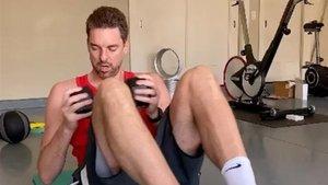 Pau Gasol sigue trabajando para recuperarse de su lesión