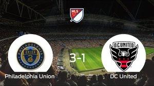 El Philadelphia Union gana 3-1 al DC United y se lleva los tres puntos