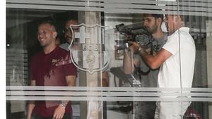 PRESENTACION DE ARTHUR MELO EN EL FC BARCELONA