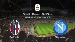 Previa del encuentro: el Bolonia recibe en el Stadio Renato DallAra al Nápoles en la jornada final