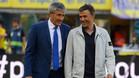 Quique Setién y Luis Enrique en el Las Plamas-Barça de la Liga 2016/17