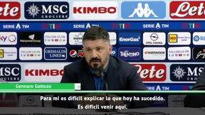 La rajada de Gattuso con los jugadores del Nápoles: Merecíamos que nos arrojaran tomates