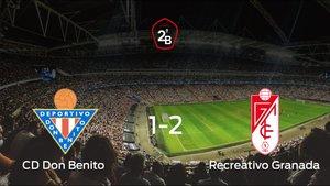 El Recreativo Granada derrota 1-2 al Don Benito en el Municipal Vicente Sanz