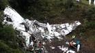 Restos del avión que se estrelló cerca de Medellín el 28 de noviembre y en el que viajaba el Chapecoense