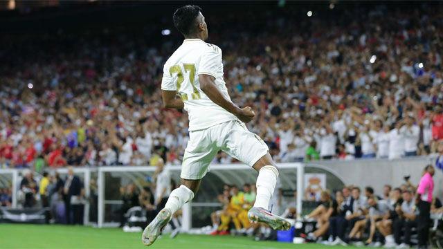 Rodrygo marcó el 3-1 y su celebración no gustó al madridismo...
