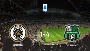 El Sassuolo se pasea frente al Spezia Calcio sin apenas obstáculos (1-4)