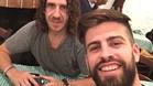 Selfie de Piqué y Puyol