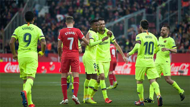 Semedo marcó ante el Girona su primer gol como azulgrana