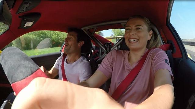 Sharapova en un vídeo de archivo mientras realizaba un divertido reto