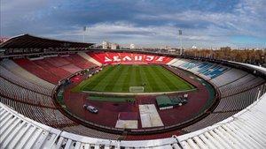 El Stadion Rajko Mitic de Belgrado