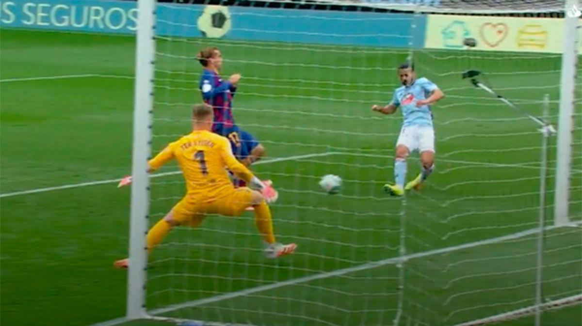 Ter Stegen evitó la derrota del Barça en los últimos segundos del partido