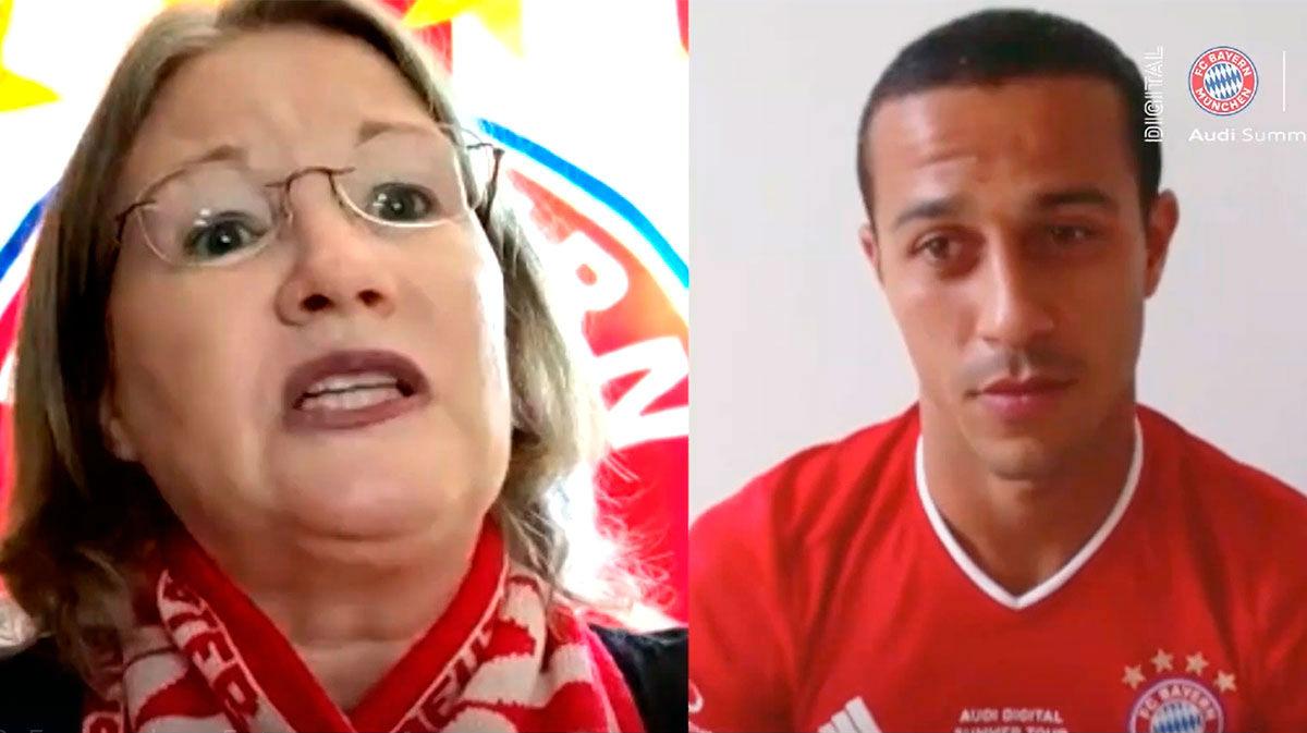 Thiago sorprendió a aficionados del Bayern