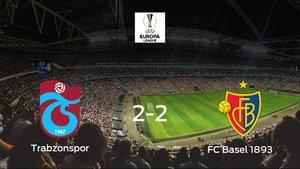 El Trabzonspor y el Basel consiguen un punto tras empatar a dos