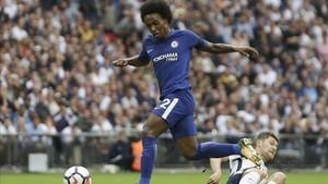 Willian, en un partido con el Chelsea