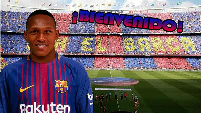 Yerry Mina, segundo fichaje del FC Barcelona en el mercado de invierno