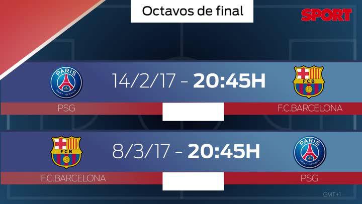 Calendario Psg.Horarios Y Calendario De Los Octavos De Final De La