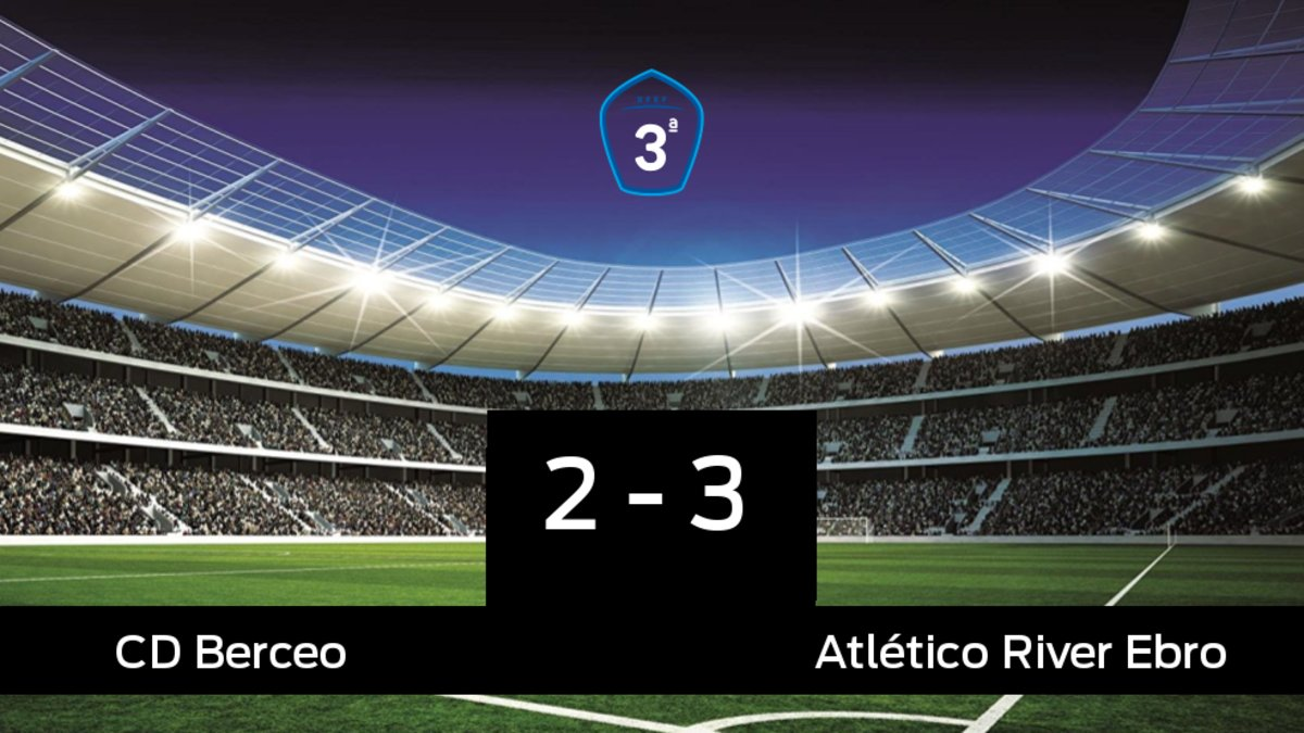 El Atlético River Ebro ganó en el estadio del Berceo