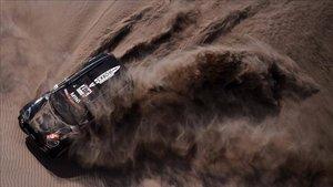 Nani Roma, en acción durante la séptima etapa del Dakar