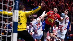 Alex Dujshebaev, en una imagen de la final del europeo ante Croacia