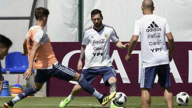 Argentina prepara optimista el encuentro ante Francia