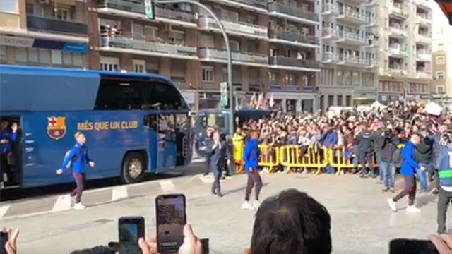 Así ha sido la llegada de los jugadores a Mestalla