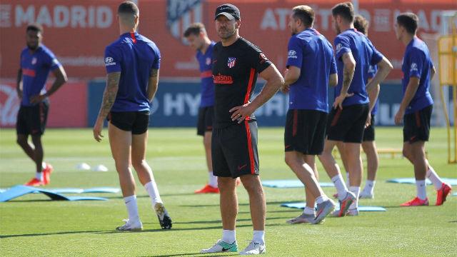 El Atlético sigue preparando el encuentro ante el Leipzig