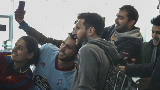 El Barça aterriza en Vigo