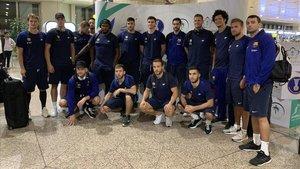 El Barça de balonmano realizó un largo viaje hasta llegar a Arabia Saudita