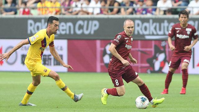 El Barça se llevó la Rakuten Cup ante el Vissel de Iniesta