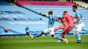 Benzema volvió a marcar ante el City