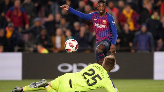 Carrerón, recorte y gol para el doblete de Dembélé