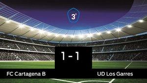 El Cartagena B no pudo conseguir la victoria ante Los Garres (1-1)