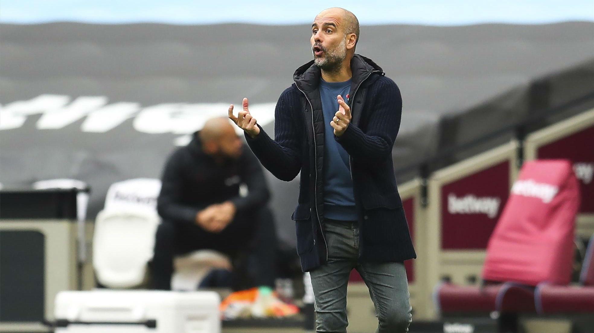 La charla de Guardiola a sus jugadores en el descanso